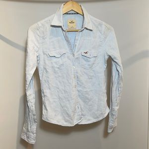 Hollister Light Button Up Shirt